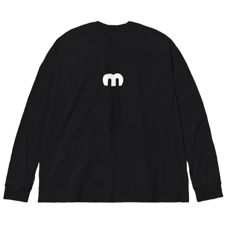 MechuのMechuロゴ(白) Big silhouette long sleeve T-shirts