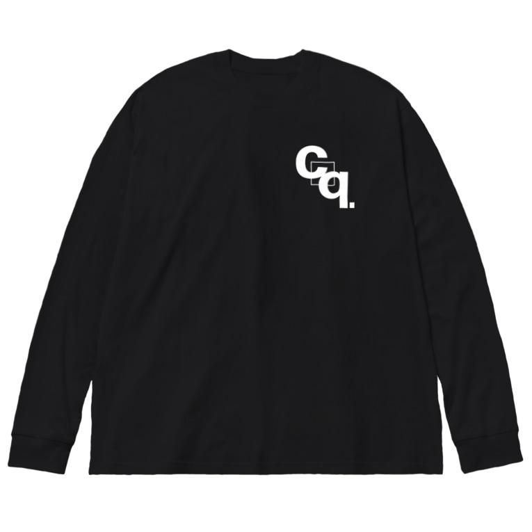 croquis.(クロッキー)のcroquis./cq.ロゴ(白) Big silhouette long sleeve T-shirts