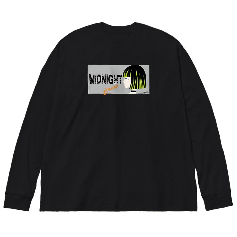 coco70のMIDNIGHTCREW L/S Tシャツ Big silhouette long sleeve T-shirts