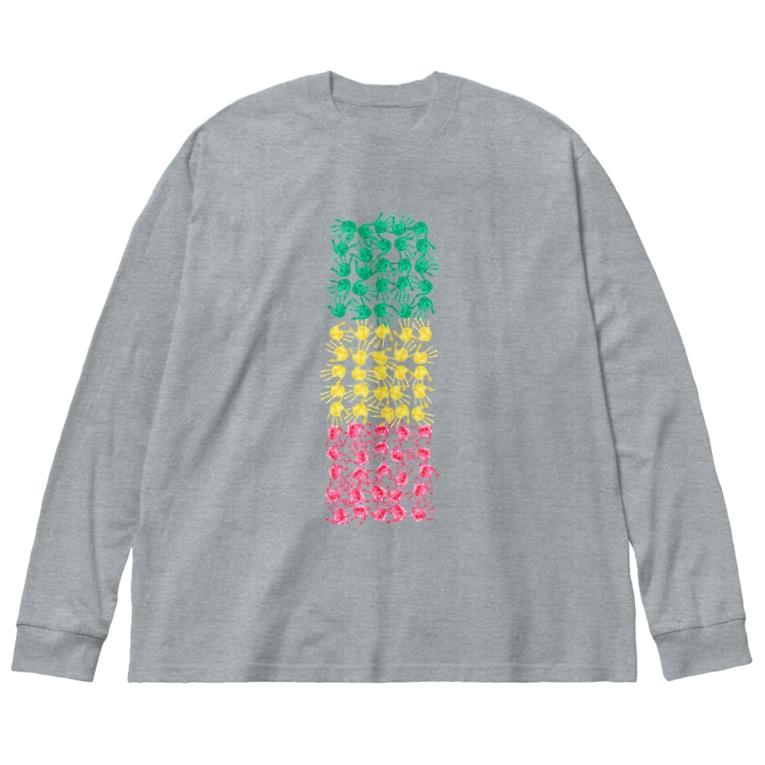 TuneBsideのテガタ・ラスタ Big silhouette long sleeve T-shirts