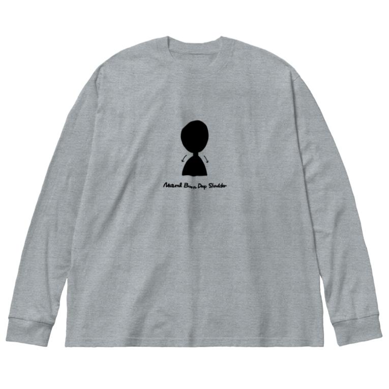 gogoteam54の生まれついてのなで肩 Big silhouette long sleeve T-shirts