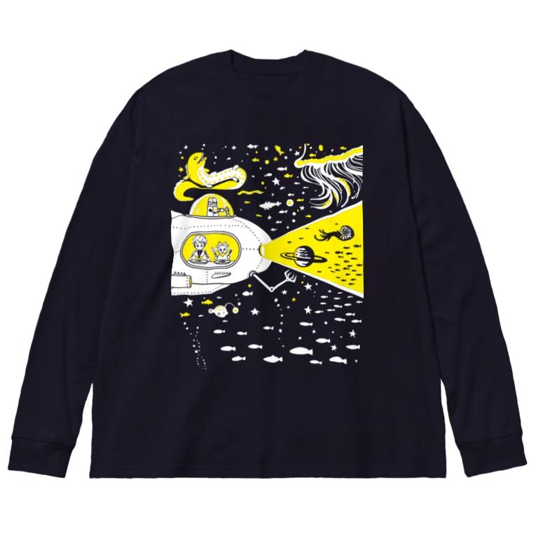 金星灯百貨店の宇宙潜水艇 Lagopus muta Big silhouette long sleeve T-shirts