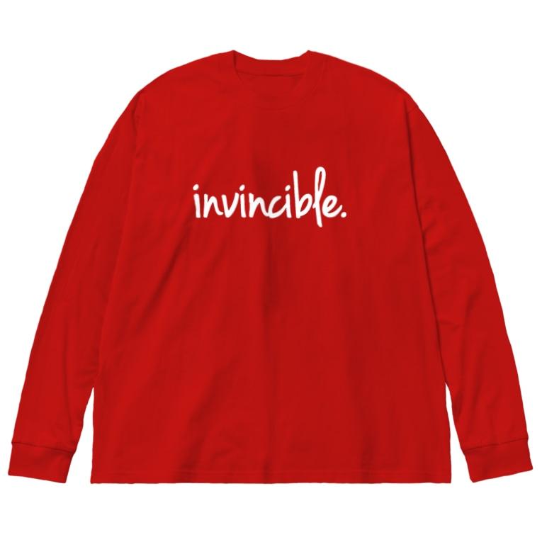oka__のinvincible Big Silhouette Long Sleeve T-Shirt