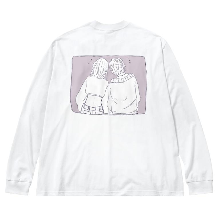 Diphyllea-ディフェリア-の友達 Big silhouette long sleeve T-shirts