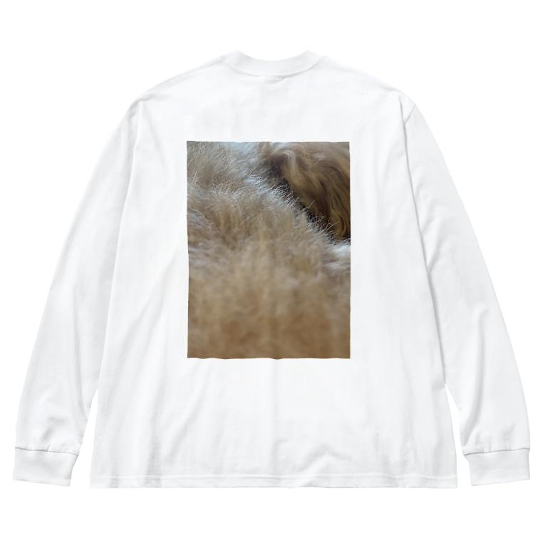 ssmtntkのイヌ1 Big silhouette long sleeve T-shirts