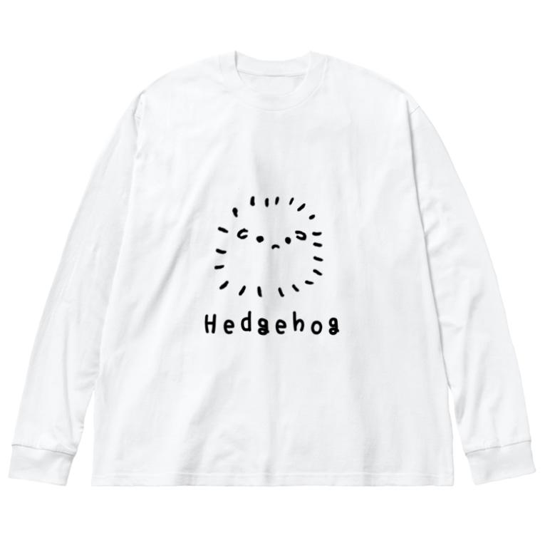 おもち屋さんの無色のハリネズミ Big silhouette long sleeve T-shirts