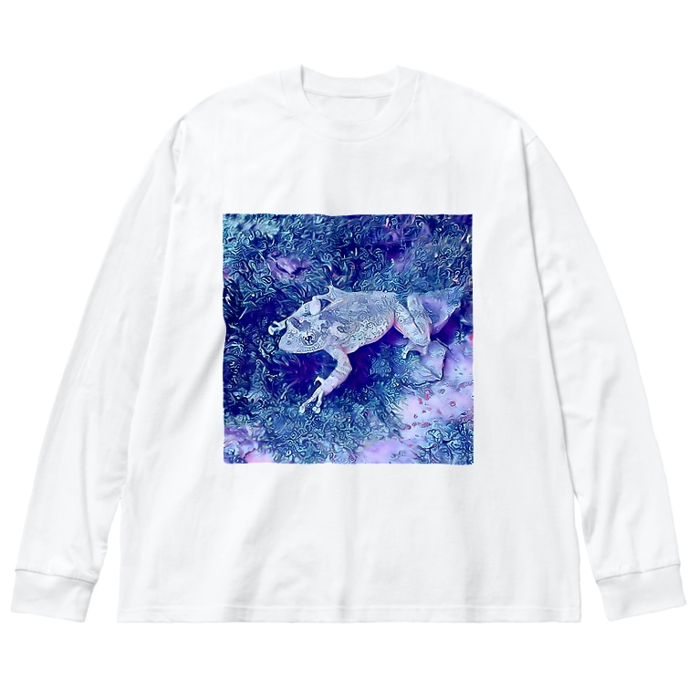 Fantastic FrogのFantastic Frog -Tanzanite Version- Big silhouette long sleeve T-shirts