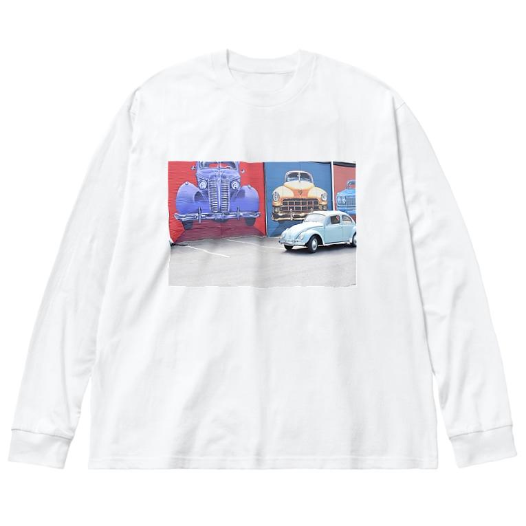 チルTショップのアメリカン Big silhouette long sleeve T-shirts