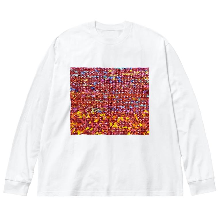 カヨラボ スズリショップの夕焼け/カヨサトーTX Big silhouette long sleeve T-shirts