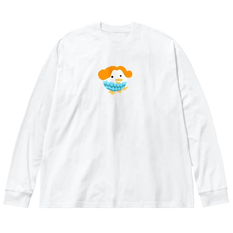 satomimitsukiのアマビナちゃん 枠なしカラー Big silhouette long sleeve T-shirts