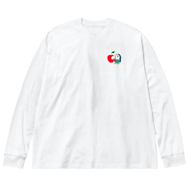 satomimitsukiのアップルアマビエ Big silhouette long sleeve T-shirts