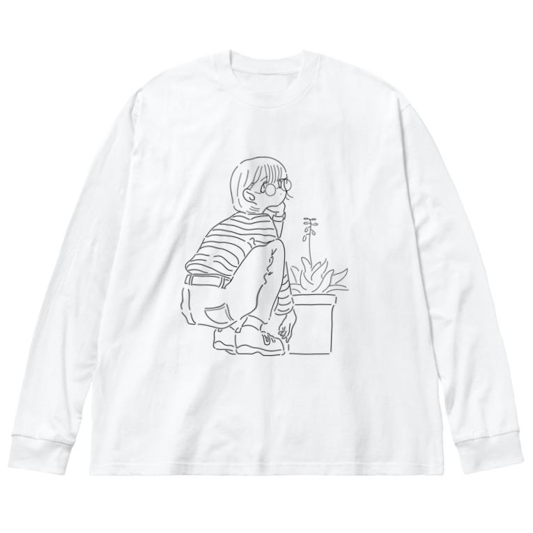 onji_goodsのアロエの花 Big silhouette long sleeve T-shirts