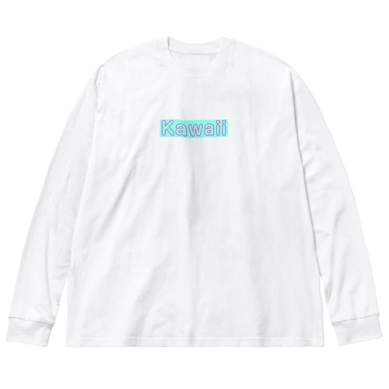♡Hanuru´s shop♡のKawaii Big silhouette long sleeve T-shirts