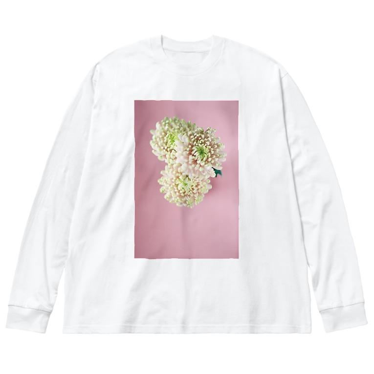 harucameraのharucamera キク Big silhouette long sleeve T-shirts