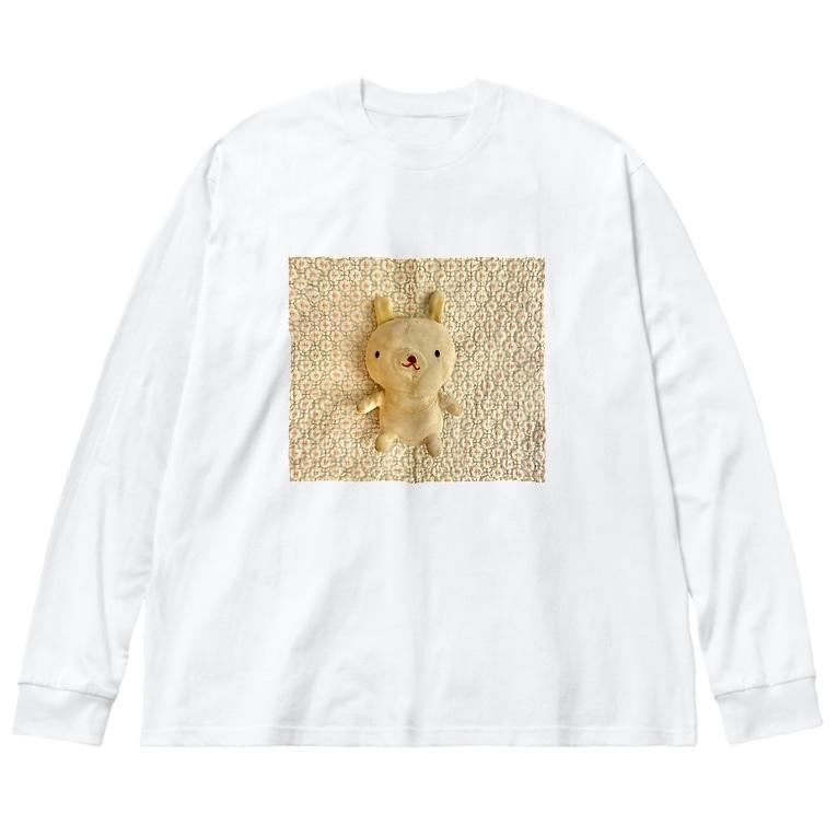 a n n aのぷーたん Big silhouette long sleeve T-shirts