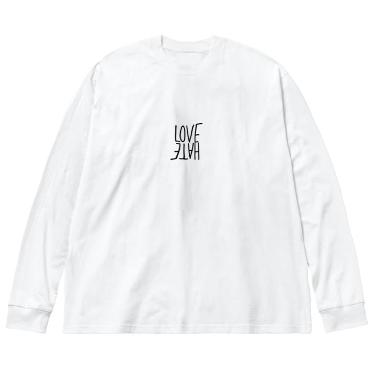 LightsMEのLOVE/HATE Big Long Sleeve T-shirt