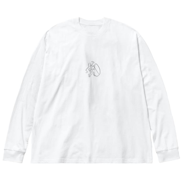 たまやのつま先ちゃん Big Silhouette Long Sleeve T-Shirt