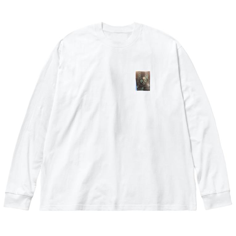 Papajirouのどうみてもうさぎじゃん? Big Silhouette Long Sleeve T-Shirt