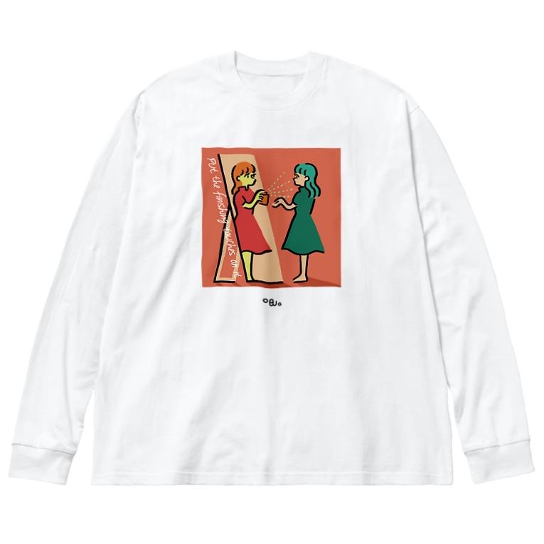 ogwの仕上げのワンプッシュ Big silhouette long sleeve T-shirts