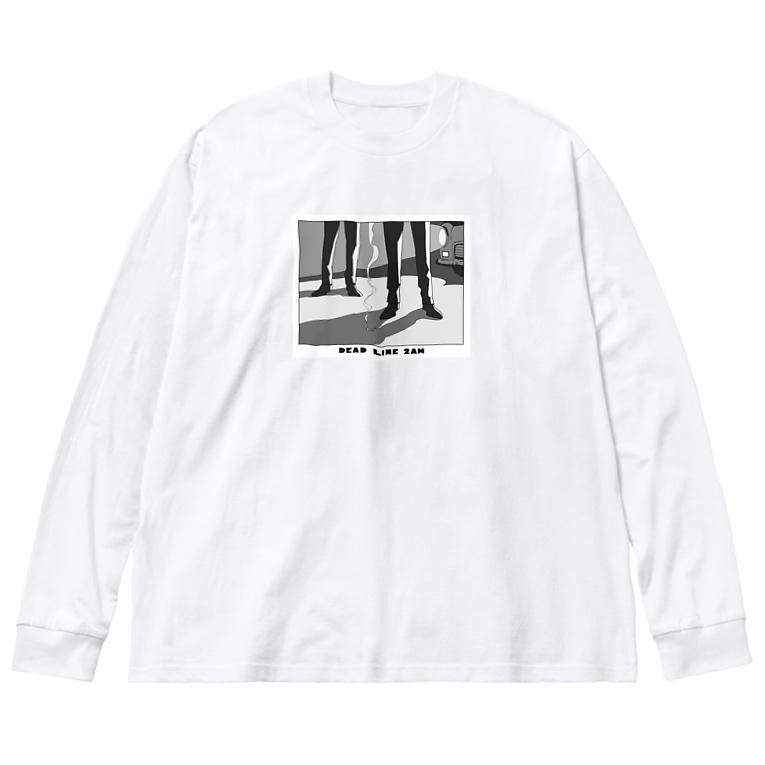 ねこぜもんのDEAD LINE 2AM (オールド) Big silhouette long sleeve T-shirts
