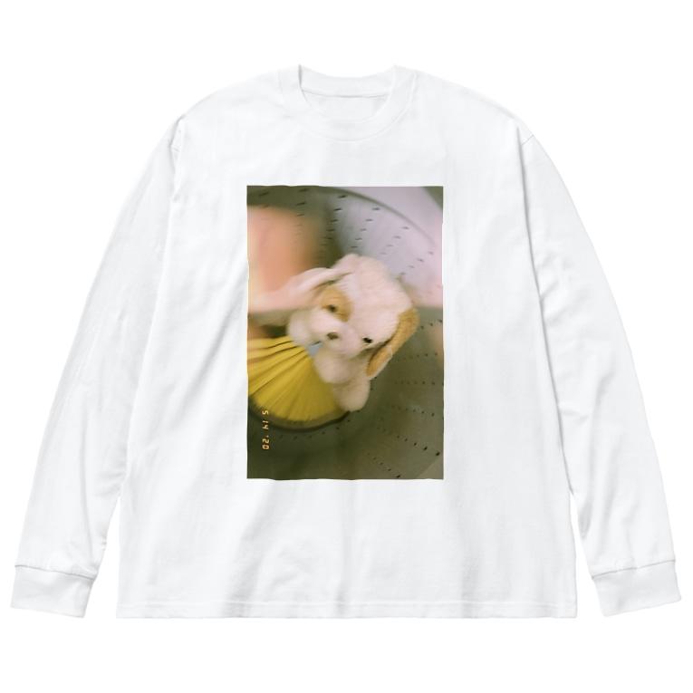 Nadeha_698のねこ Big silhouette long sleeve T-shirts