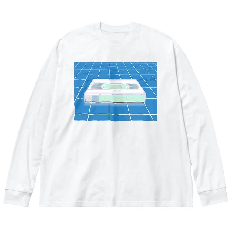 コ八ルのビデオテープ Big silhouette long sleeve T-shirts