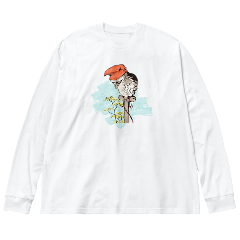 HIGEQLOの山鴞〜ふくろう〜 Big silhouette long sleeve T-shirts