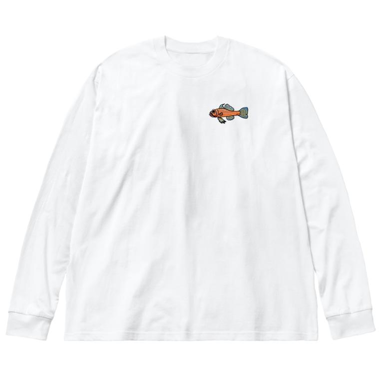 snaggedgorillaのオキナワベニハゼ Big silhouette long sleeve T-shirts