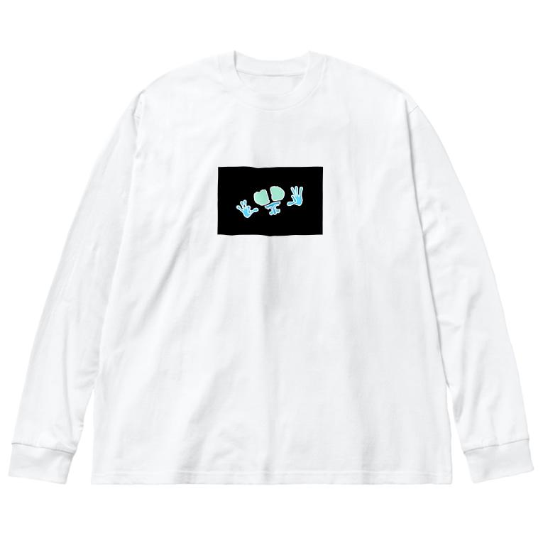BUFOの反転FG君 Big Silhouette Long Sleeve T-Shirt