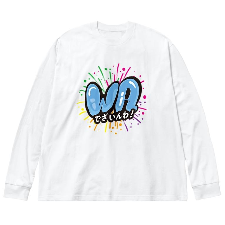TOMOROKOSHIのデザインわ! Big Silhouette Long Sleeve T-Shirt