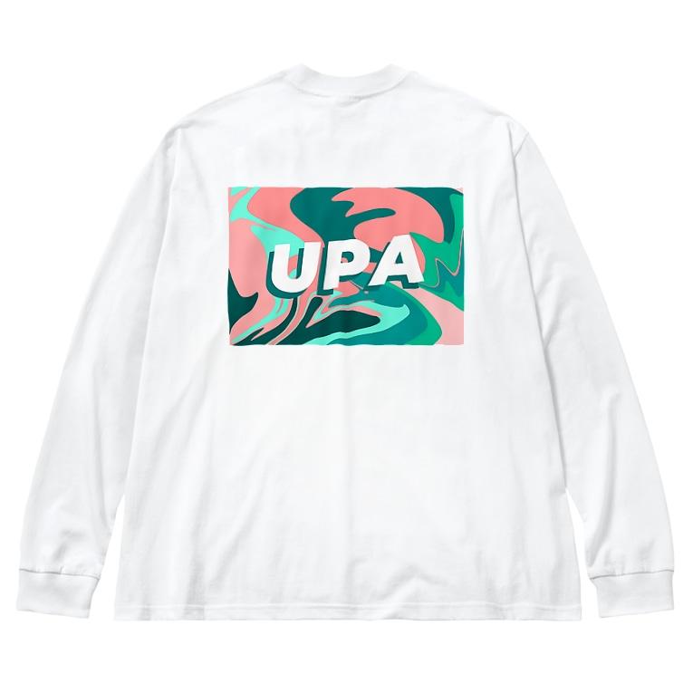 ピースボートUPA国際協力プロジェクトのUPA marble Big silhouette long sleeve T-shirts