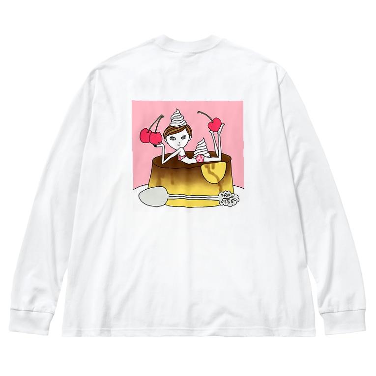sinoop2 STOREのCherryプリンガール Big silhouette long sleeve T-shirts