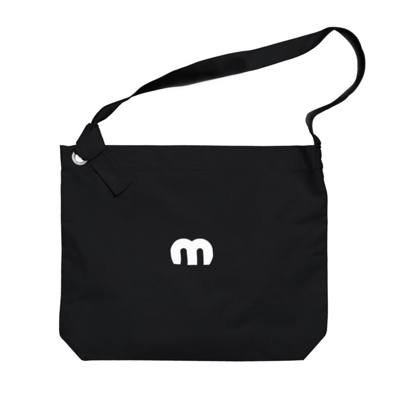 MechuのMechuロゴ(白) Big shoulder bags