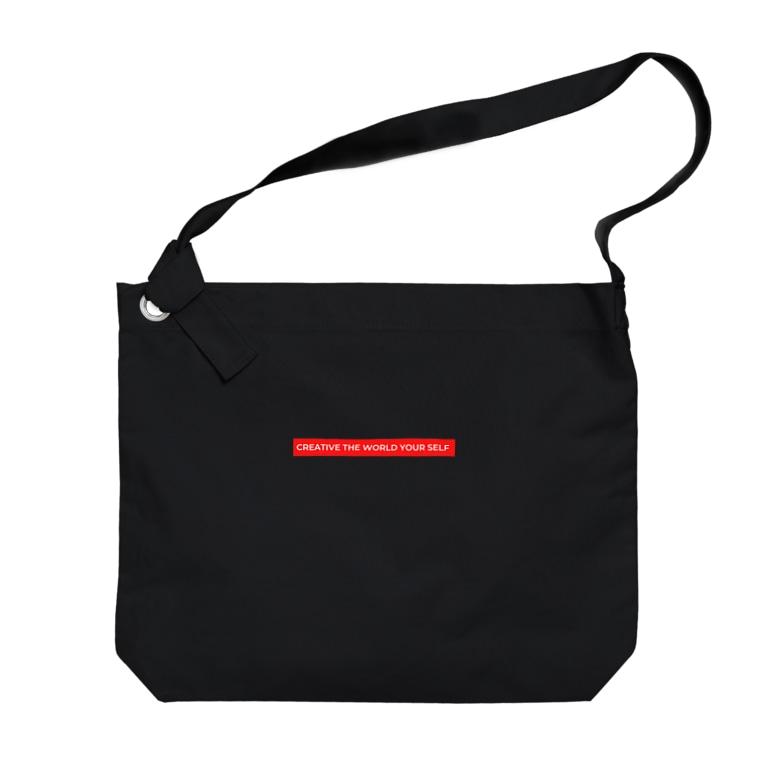 sappori BLOGのcreative the world your self(赤) Big Shoulder Bag