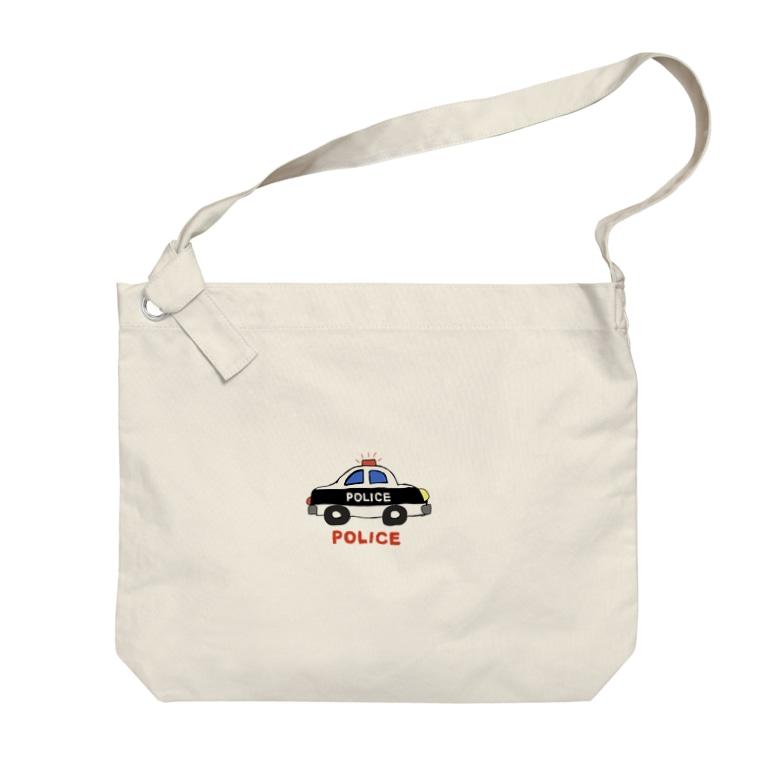 rurisapapa のパトカー Big shoulder bags