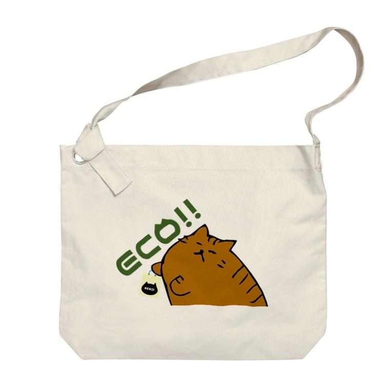 ニャポハウスショップ のECOバッグニャポポさん Big shoulder bags