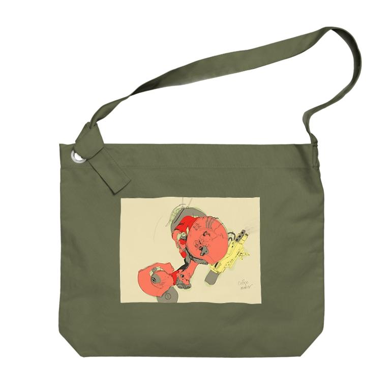 ゼロイチゼロショップのcoffee maker Big shoulder bags