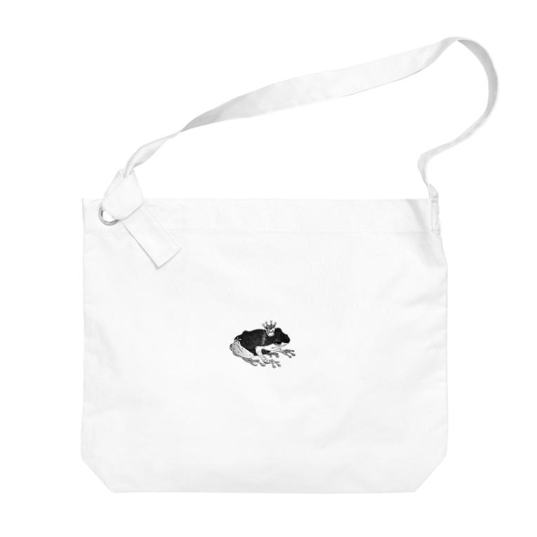 aya aceの蛙 Big shoulder bags