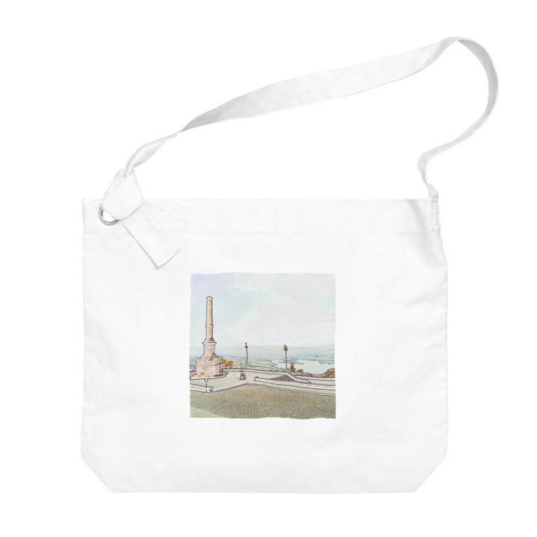 FUCHSGOLDのCG絵画:ヴィアナ・ド・カステロの風景画 CG art: Rio Lima / Viana do Castelo Big shoulder bags