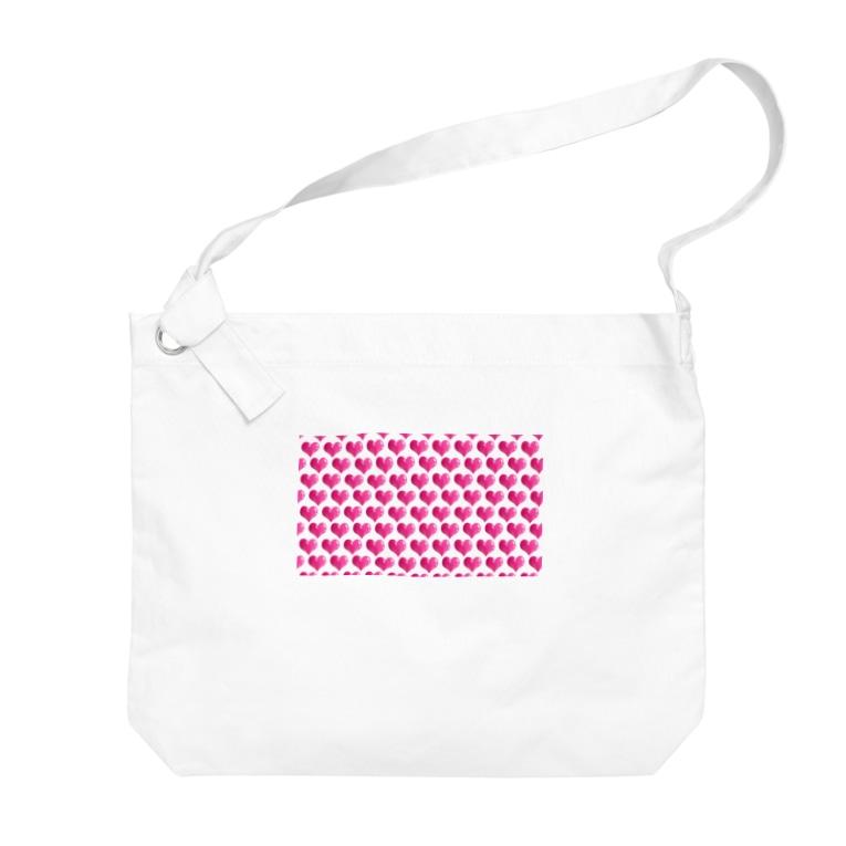 kana design factoryの3Dハートのかわいいパターン Big shoulder bags