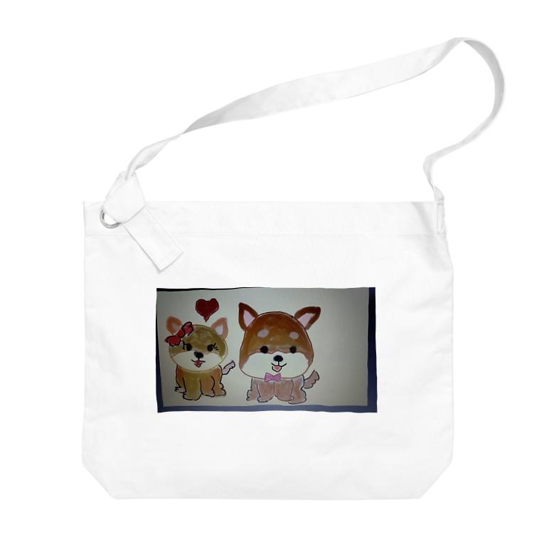 yutura117の恋する犬 Big shoulder bags