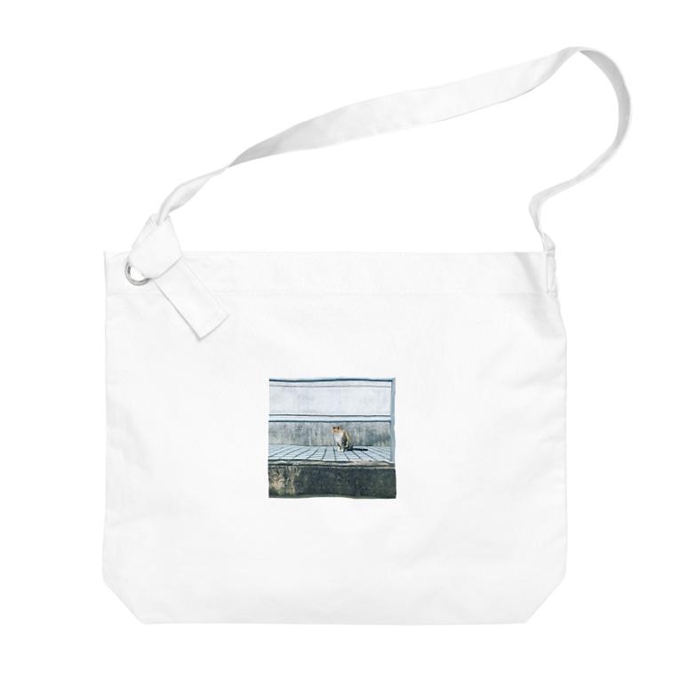 Chisakoのタイルとねこ Big shoulder bags