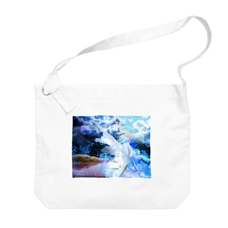 suparnaの牡丹の夢 moon Big shoulder bags