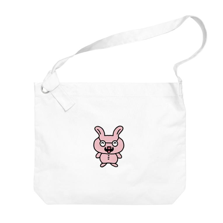 nyanchu08023のおじさんウサギ Big shoulder bags