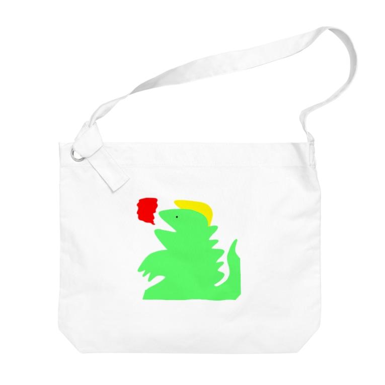 isaisaiisaaの怪獣くん Big shoulder bags