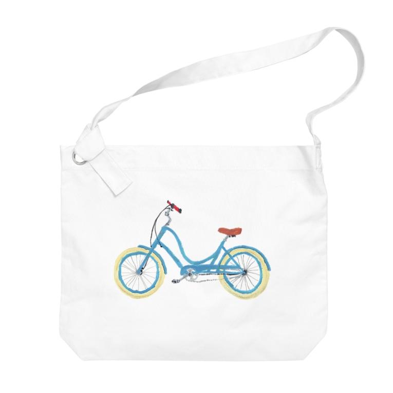 mi. (エムアイドット)の水色の自転車 Big shoulder bags