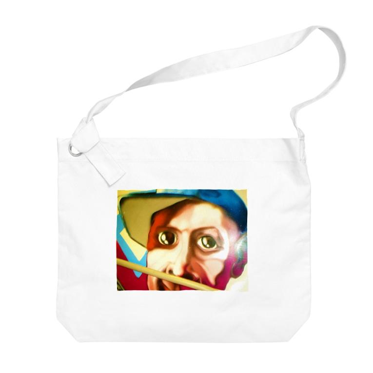 MOPIE GAME -ムーピーゲーム-のイタリアンボーイのイラスト Big shoulder bags