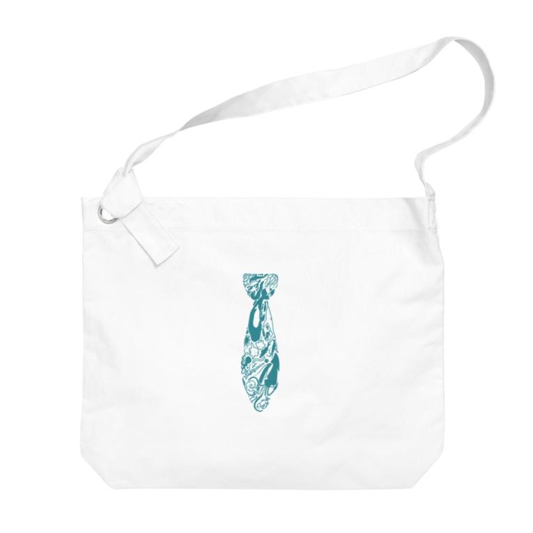 びりぃおんのさかなさかな Big shoulder bags