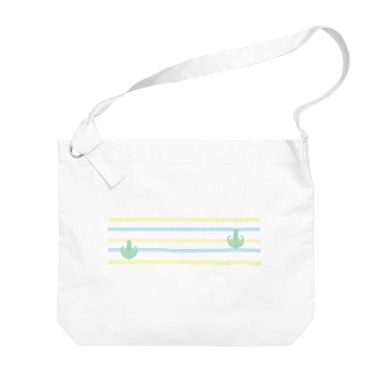 Prism coffee beanのジェラートラテアート~Landscape~ /パイナップル×ブルーハワイ Big shoulder bags