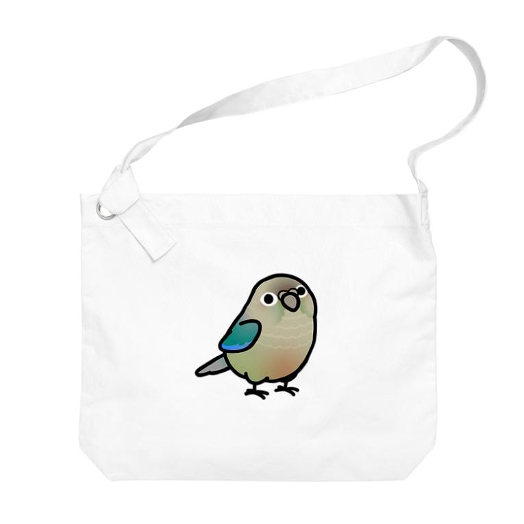 Cody the LovebirdのChubby Bird ウロコインコ ターコイズシナモン Big shoulder bags